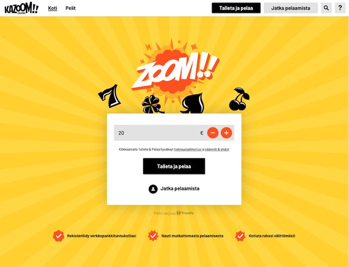 Kuva Kazoomin etusivulta
