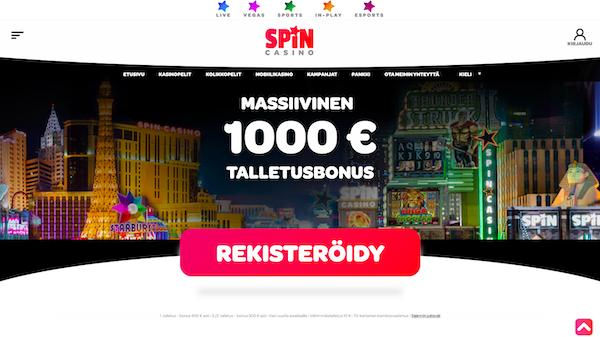 Spin Casinon bonus