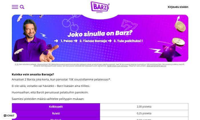 Kuva Barz-pisteistä